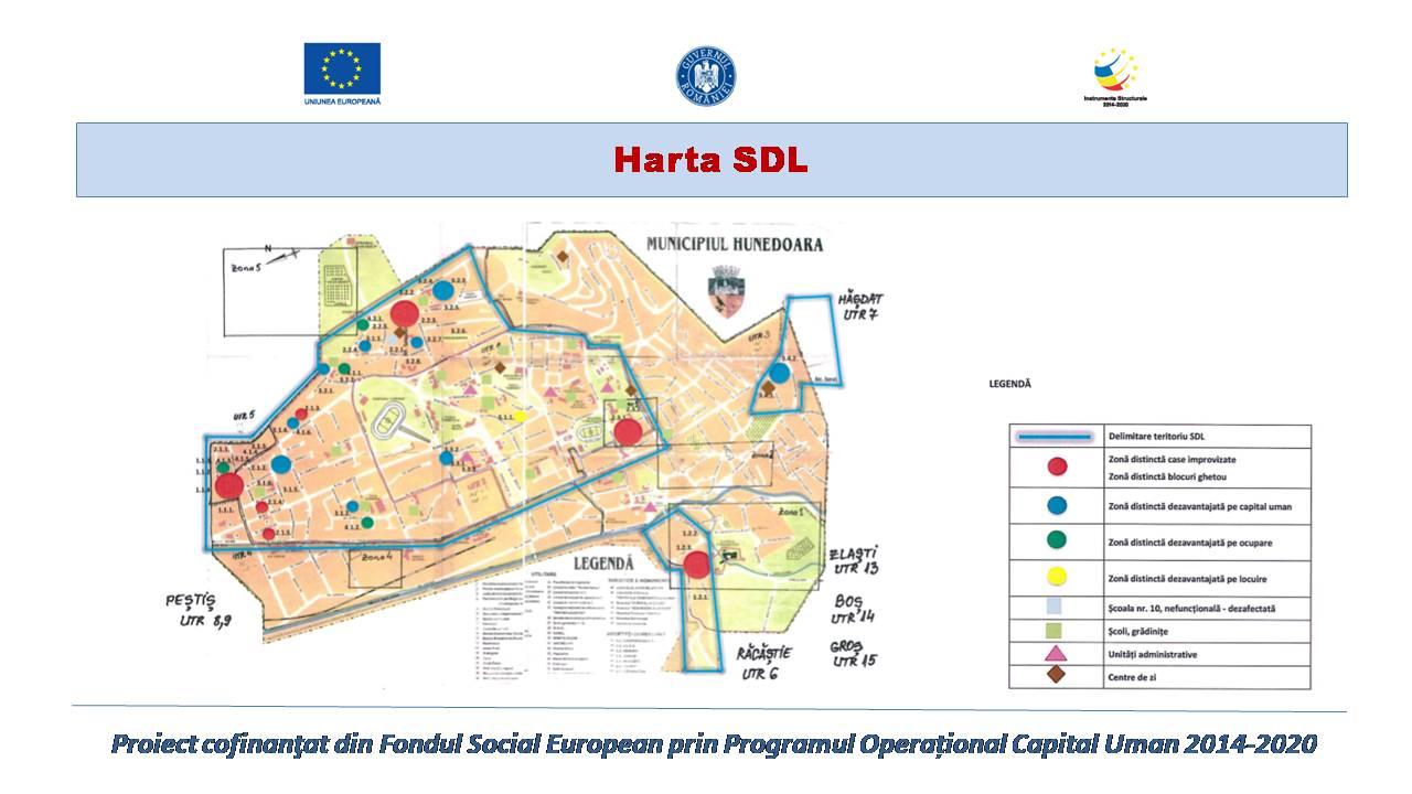 Harta SDL - GAL Urban Corvinia Hunedoara